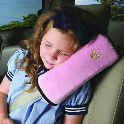 淘爾杰TAOERJ【1個裝】汽車兒童護肩套 車載卡通毛絨安全帶套枕頭 嬰兒寶寶車用可愛抱枕安全帶裝飾