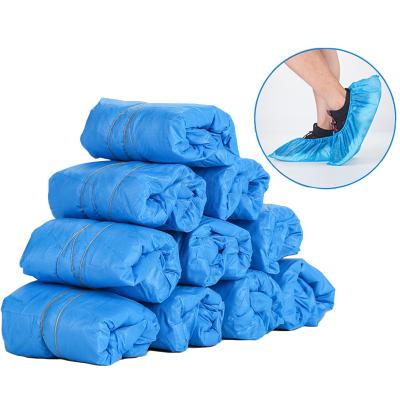 亦睿 100只50双一次性塑料鞋套加厚家用防尘耐磨防滑室内脚套