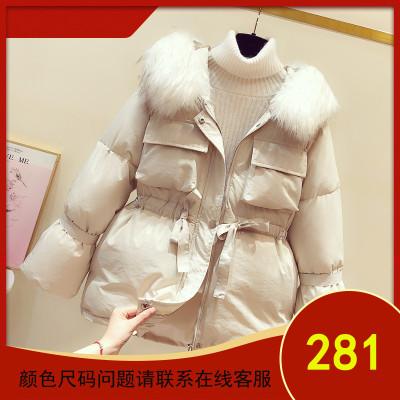 大毛领棉衣女装冬季2019年新款加厚短款小个子羽绒棉服棉袄外套潮