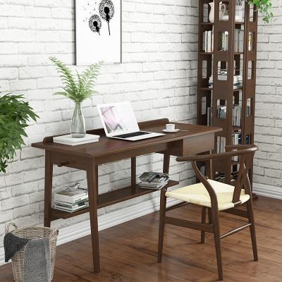 唐臻日式全實木電腦桌臺式家用書桌簡約辦公桌寫字臺書房家具