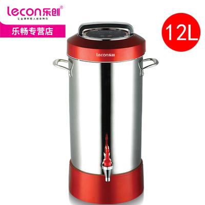 lecon/乐创豆浆机无渣大容量全自动渣浆分离现磨大型早餐加热磨浆机料理机10L12L15L20L商用豆浆机送保温桶