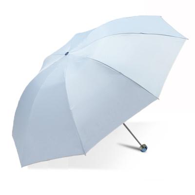 天堂 336T高密聚酯银胶三折超轻晴雨伞