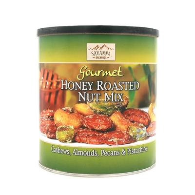 【好吃到没朋友】SAVANNA ORCHARDS 绿罐蜜烤混合坚果(含开心果)经典款850g 果仁坚果零食送礼礼盒