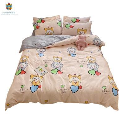 【精品好貨】可愛卡通床上用品四件套公主風兒童床單人被套三件套女孩