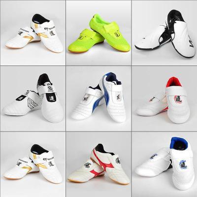 跆拳道鞋兒童男訓練軟底女款初學者成人防滑專用臺泰拳道鞋子牛筋