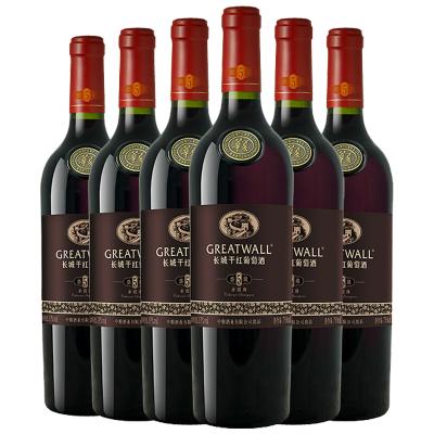 【官方旗艦店】長城盛藏5赤霞珠干紅葡萄酒750ml*6瓶 中糧直營紅酒