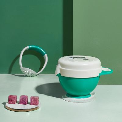 babycare 婴儿研磨碗辅食 工具宝宝辅食碗研磨器棒儿童餐具套装克里斯绿2368