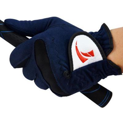 戶外新款高爾夫球手套 男款 超纖布手套 柔軟耐磨透氣