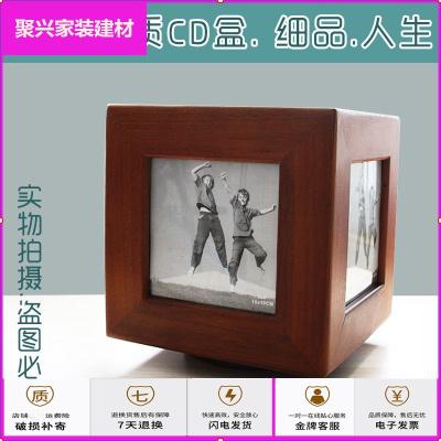 蘇寧放心購精品木質歐式CD盒收納盒 木制cd盒外貿光碟唱片盒CD架相框cd盒簡約新款