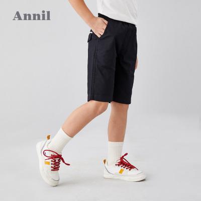 安奈兒童裝男童短褲2020夏季新款洋氣中大童五分褲子透氣學生中褲