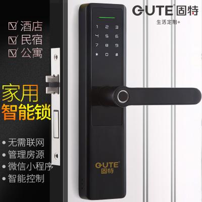 固特GUTE 指纹锁家用防盗智能民宿酒店密码锁公寓室内办公室电子门锁 2316
