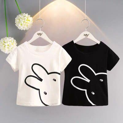 景逃逃兒童短袖2020夏季新款韓版休閑百搭上衣小兔子T恤
