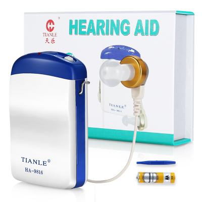 天樂 助聽器 盒式 中老年人 重度弱聽人士耳背中度耳聾 聽力障礙耳聽器 聽力受損者用哈斯福 (單耳款*1)