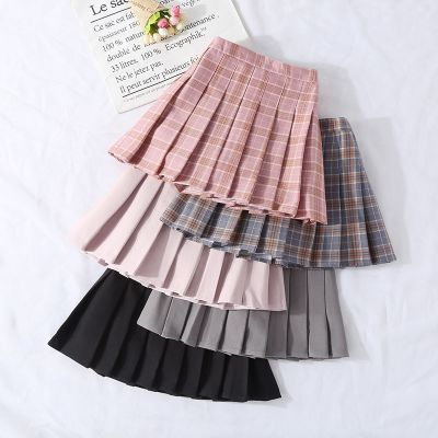 女童半身裙兒童短裙洋氣親子百褶裙學校風格子裙小女孩中大童裙子 娜蜜雨(NAMIYU)