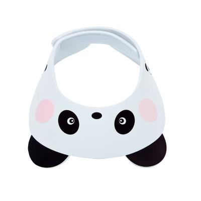 馬博士嬰幼兒感溫洗頭帽嬰兒洗發帽洗澡帽 自由可調節兒童防水熊貓款 感溫變色