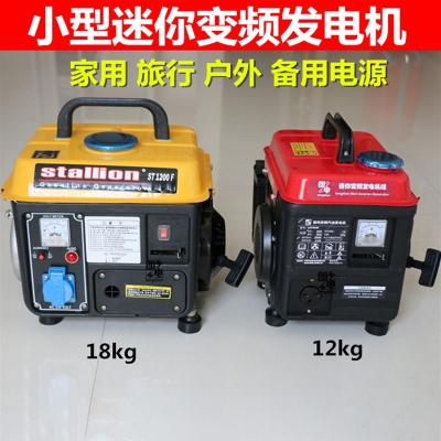 閃電客便攜式汽油發電機家用1000w220v伏小型戶外低靜音車載發電機 全銅變頻1000W 12公斤 抖音