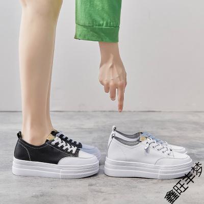 小白鞋女鞋子2020年新款夏季薄款百搭運動休閑單鞋厚底松糕鞋