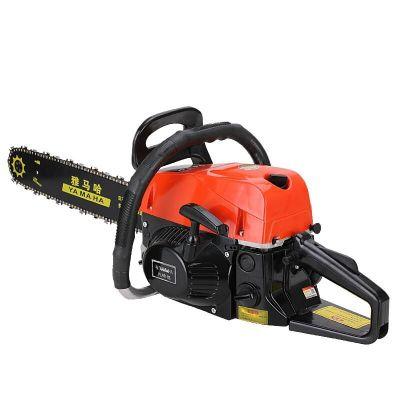 HLHJ新款大功率汽油鋸伐木鋸家用小型電鋸園林鋸工業級油鋸 9800紅款配1根國產1根進口