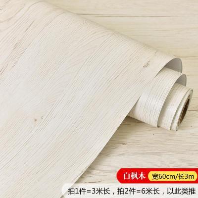 復古做舊木紋墻紙自粘衣柜櫥柜子桌面舊房家具翻新自貼壁紙家用弧威(HUWEI)