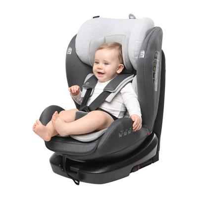 路途乐 汽车儿童安全座椅isofix硬接口 360°旋转 坐躺可调0-12岁宝宝座椅 路路熊Air Pro 魅力灰