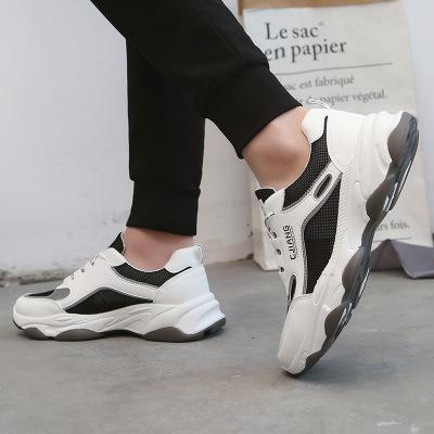 策恩公牛2020夏季新款波浪底透氣網鞋老爹鞋男鞋運動鞋鏤空跑步鞋