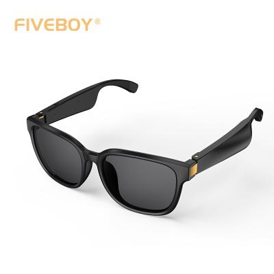 fiveboy 定向音頻眼鏡方框款(旗艦版)藍牙通話聽歌語音時尚智能眼鏡