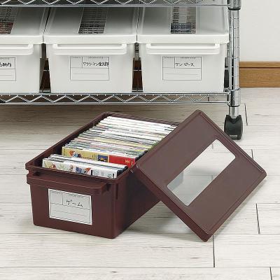蘇寧放心購家用dvd碟片cd盒光盤收納盒箱塑料專輯游戲碟儲存盒架A-STYLE