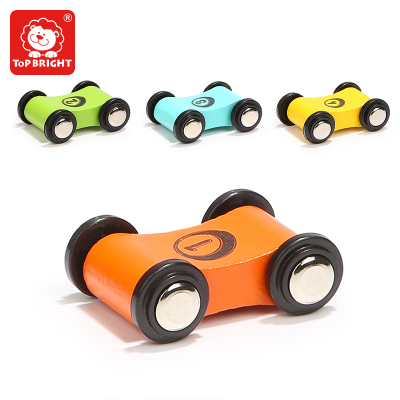 特宝儿(topbright)滑翔小车4个装小孩益智木制玩具 1岁以上女孩男孩儿童玩具 120370