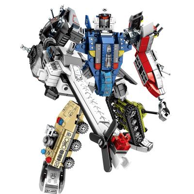 新森寶 兼容樂高積木拼裝玩具變形機器人模型金剛男孩益智智力塑料6-14歲 積變捍衛者整套六盒【733顆粒】
