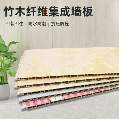 竹木纖維電視背景墻仿閃電客大理石快裝護墻板裝飾自裝pvc扣板 石塑集成墻板