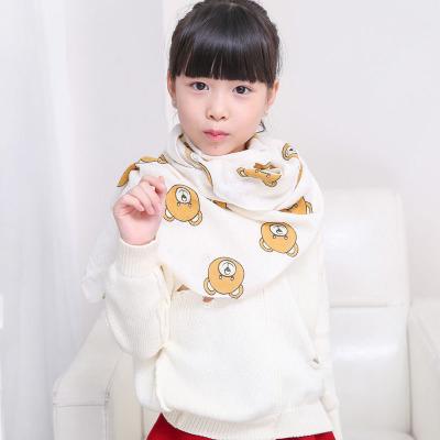 2019秋冬季儿童围巾韩版棉麻婴儿脖套男女童防风纱巾宝宝围巾
