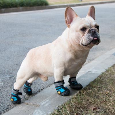 中大型犬春季寵物鞋子一套4只大狗金毛柯基法斗四季款帥氣狗狗鞋