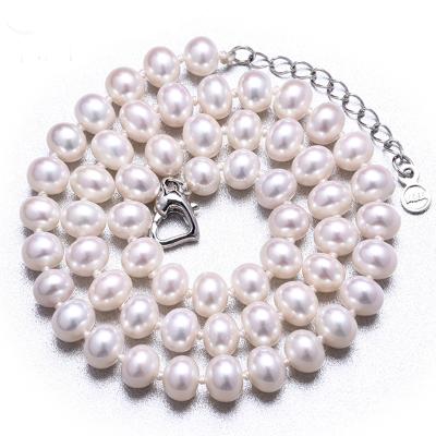 月印百川 大颗珍珠项链饱满亮泽淡水珍珠项链8-9mm