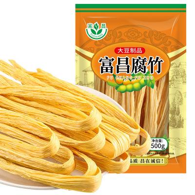 富昌腐竹500g 手工制作 黃豆制品 火鍋涼拌 豆皮腐皮 干豆腐皮 南北干貨
