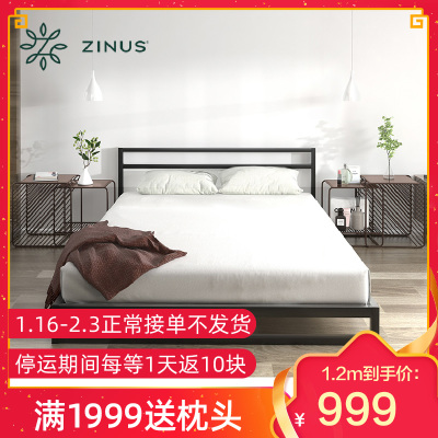ZINUS/际诺思北欧简约现代光阴铁艺床铁架子床1.5米1.8米可拆卸家庭床