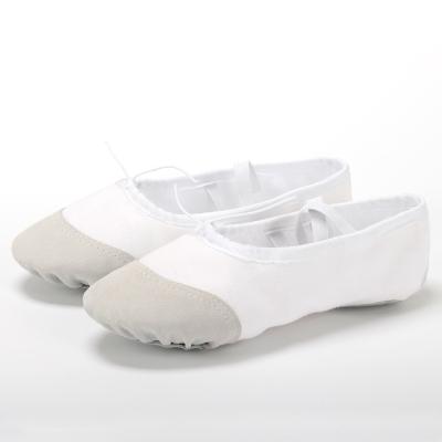 舞蹈鞋免系帶成人兒童女軟底練功鞋古典形體貓爪鞋男女童芭蕾舞鞋 莎丞
