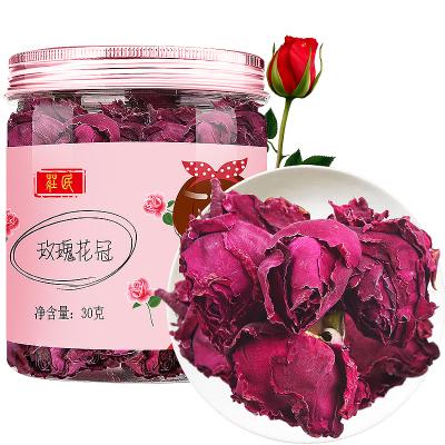 莊民玫瑰花冠30g/罐 大朵型精選好貨 墨紅干花茶葉花草茶