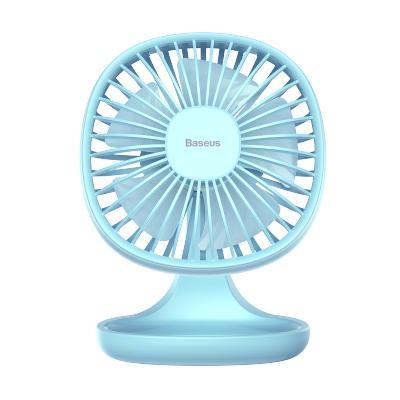 倍思迷你usb電風扇辦公室家用學生宿舍桌面手持便攜收納小型靜音無聲充電臺式小風扇三檔調速5片扇葉大風力藏藍色