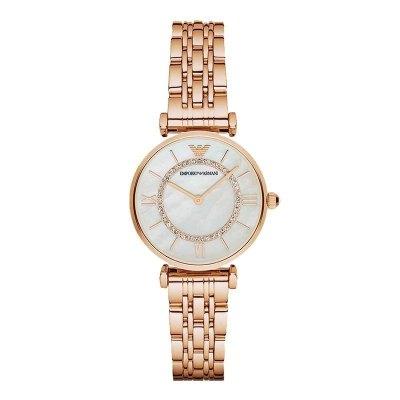 阿瑪尼Emporio Armani歐美品牌鋼帶女士手表休閑簡約摩天輪女表石英表女AR1909