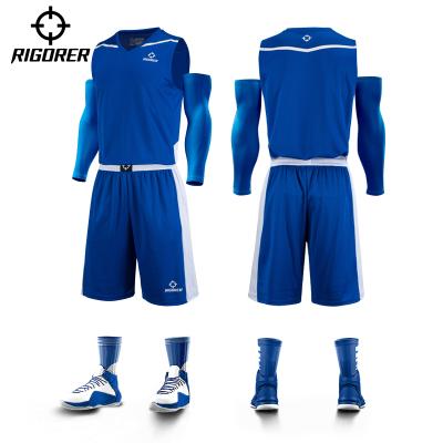 准者 新款篮球服套装 定制队服比赛训练球衣透气大学生夏季运动