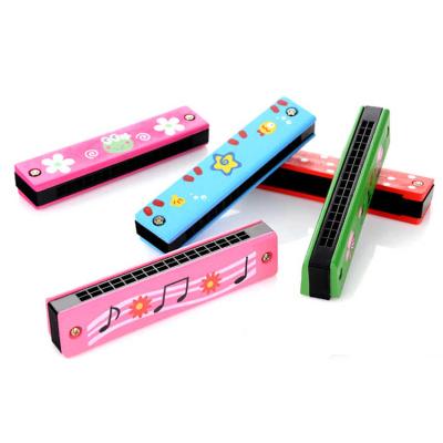 木制16孔卡通儿童彩绘口琴 奥尔夫早教乐器婴幼儿童益智玩具