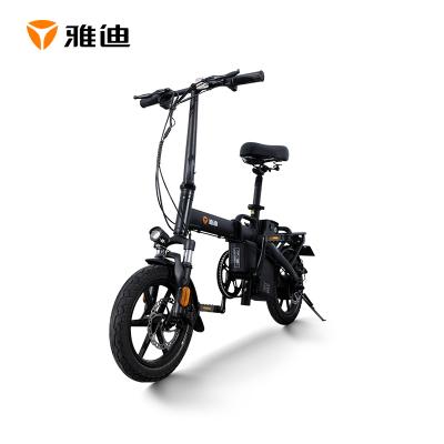 雅迪電動車F3第三代鋰電池代駕助力便攜電動折疊自行車