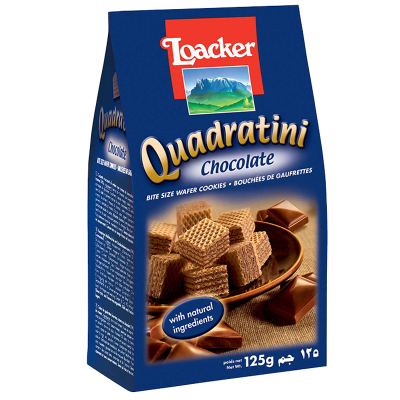 【產自奧地利】萊家(Loacker)威化餅干巧克力味 125g/袋 進口餅干 糖巧 巧克力威化 零食 意大利進口