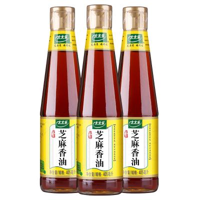 太太樂芝麻香油405ml*3瓶 壓榨食用芝麻油 調味