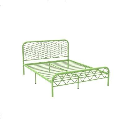 北欧ins网红风斯黛拉金色双人铁床极简设计师1.8米床铁艺床成人 1800mm*1900mm_绿色(排骨架
