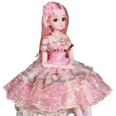 舒萊特(shulaite)大單個洋娃娃套裝公主超大號女孩玩具生日禮物