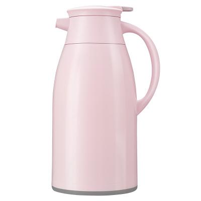 JEKO&JEKO 大容量保溫壺開水瓶玻璃內膽家用熱水瓶保溫瓶辦公室水壺暖瓶保溫杯暖水瓶1.6L粉色 SWH-1604
