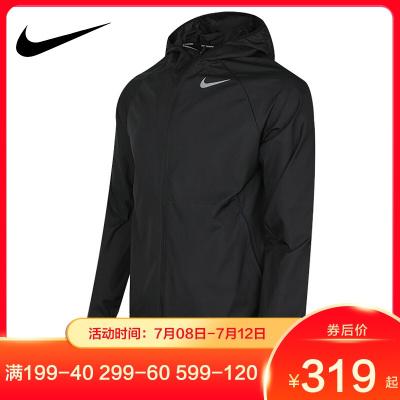 NIKE耐克外套男裝2019秋季新款梭織連帽跑步訓練運動服夾克BV4871-221