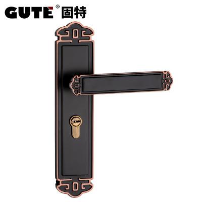 固特GUTE 中式复古室内卧室房门锁房间实木静音门锁具门把手(适合门厚35-45mm) 7A919