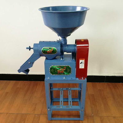 小型家用碾米機全自動多功能打米機大米稻谷脫殼剝殼機玉米去皮機 碾米機藍色+2.2kw電機
